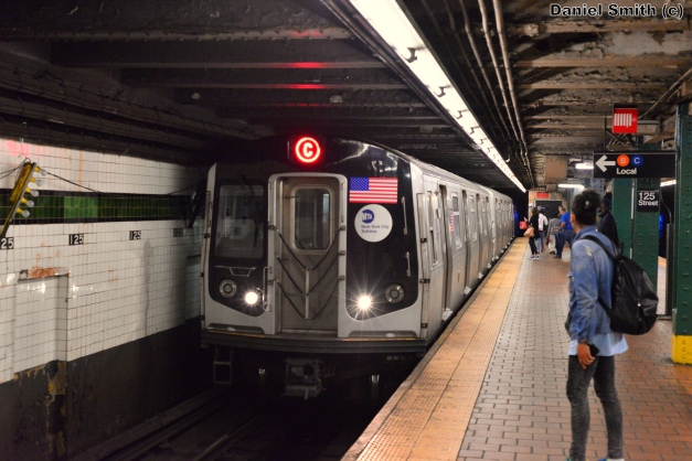 R160 C Train Arrives At 125th Street