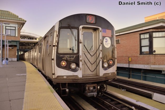 R160A-2 F Train At Coney Island